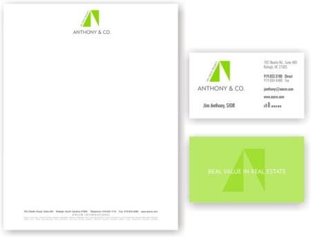 Business cardsletterhead clina polloni design anthony stationary colourmoves Gallery