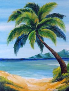 Seascape-Palm Tree at the Beach