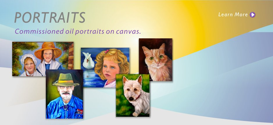 Oil Portraits of People and Pets