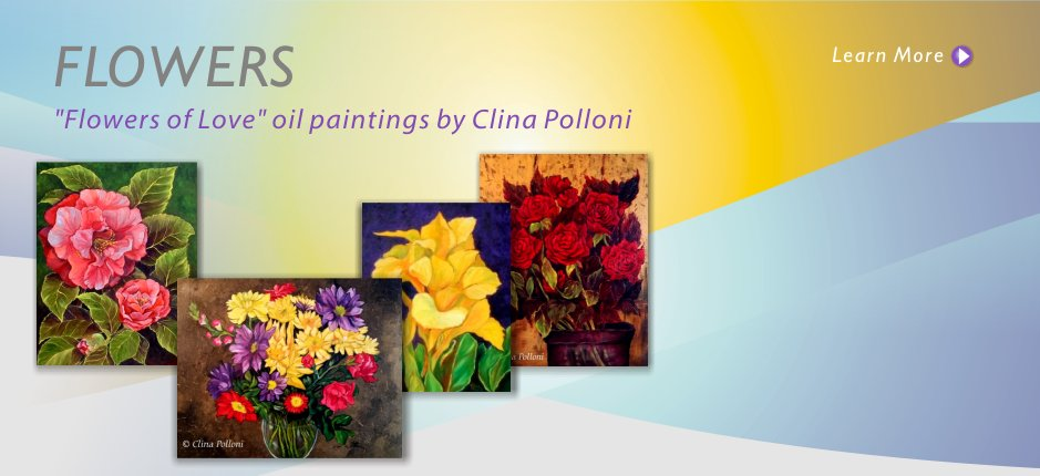 Paintings of Flowers by Clina Polloni