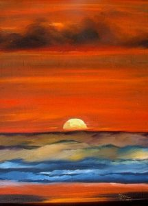 Wild Sunset Painting