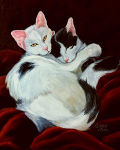 Pet Portrait of Loving Cats