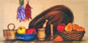 Still Life Painting on Burlap