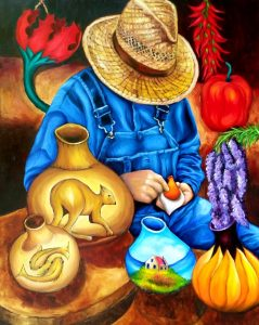 The Gourd Artist Painting