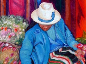 The Market Girl Hispanic Painting