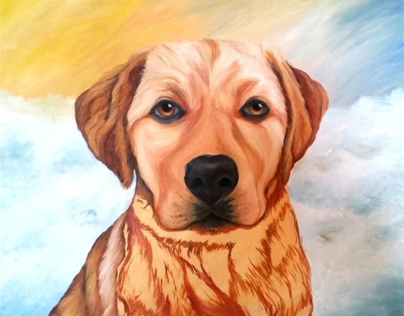 Painting A Gold Labrador Retriever