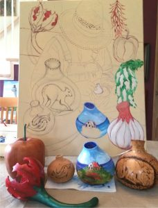 The Gourd Artist, Gourds to Paint