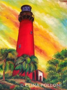 Jupiter Inlet Lighthouse Painting