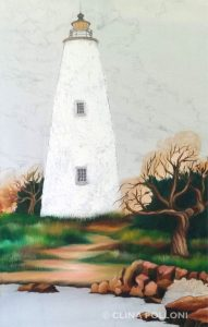 Ocracoke Lighthouse Under-Paint