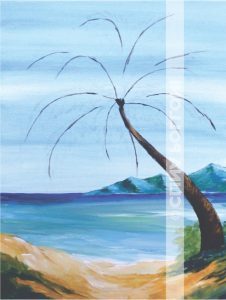 Seascape-Palm Tree-how to paint