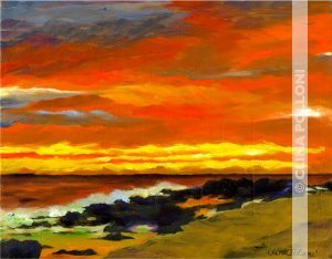 Seascape-Sunset in the Ocean