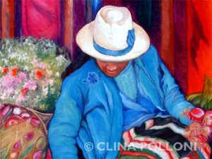 The Market Girl Painting