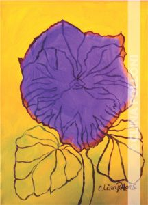 Flower-Purple Pansy-Under-Paint