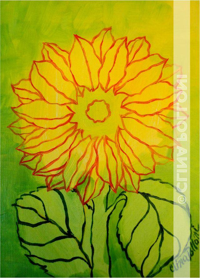 Flower-Sunflower Under-paint