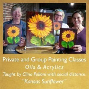Painting Class June 2021-Kansas Sunflower