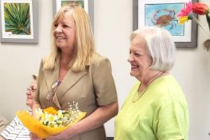 2019 July 27-Mayor Vivian Jones congratulating Clina Polloni