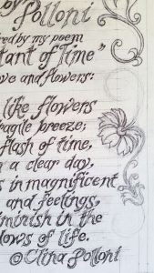 Flowers of Love Poem Drawing