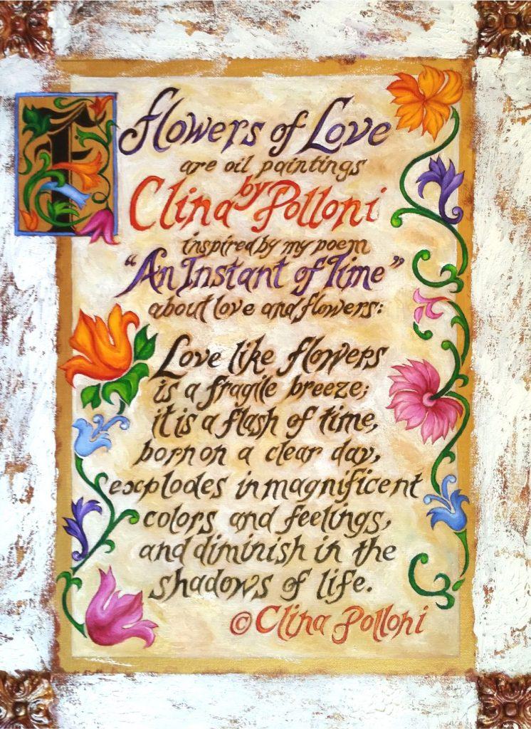 Flowers of Love Poem Painting