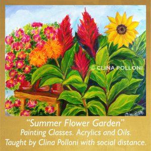 Painting Class Acrylics Oils-Summer Flower Garner