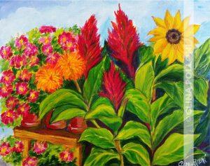 Summer Flower Garden Painting