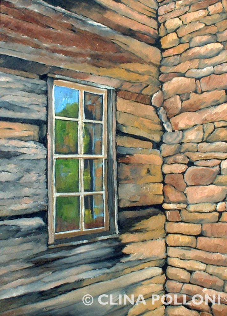 Log Cabin Window in Perspective