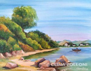 Fishing Village Seascape