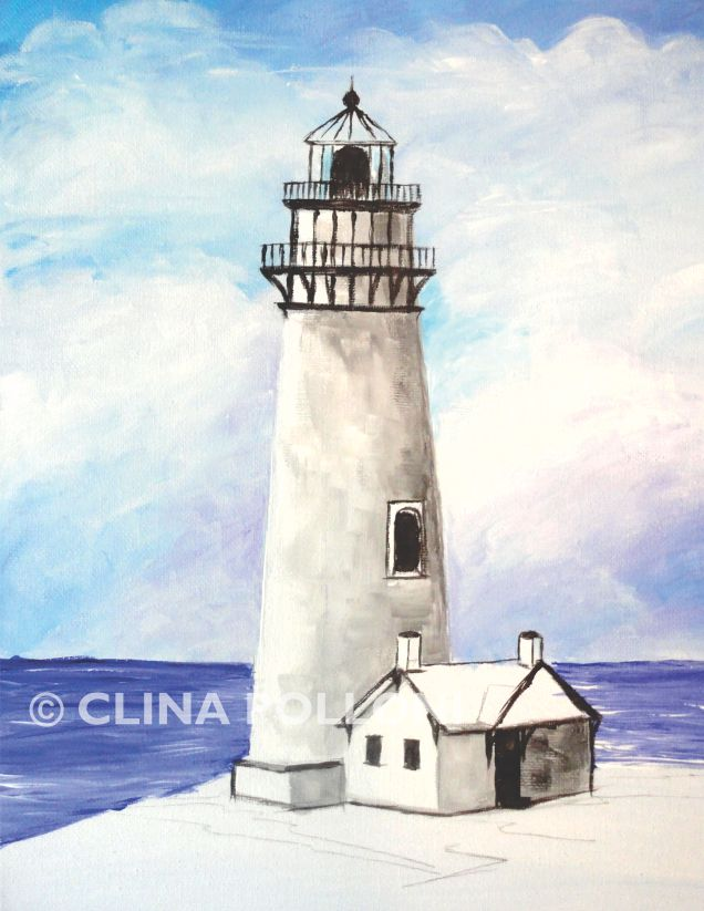 Pigeon Point Lighthouse Under-paint