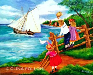 Children Goodbyes to the Sailors