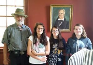 Thom and the girls at the Alston Plantation, NC