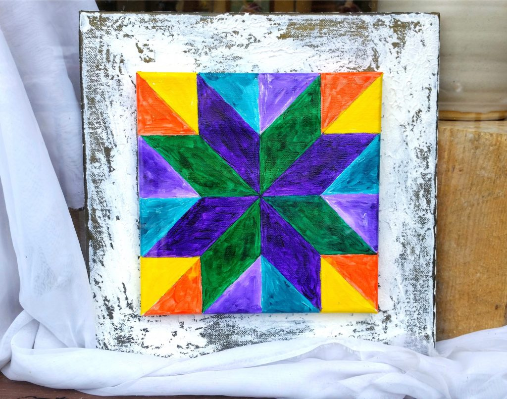 Miniature Quilt Block by Clina Polloni