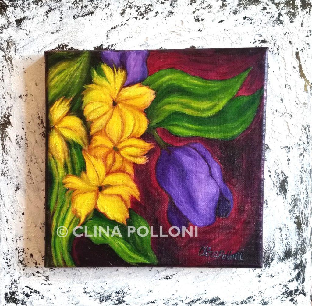 Purple Tulip Painting