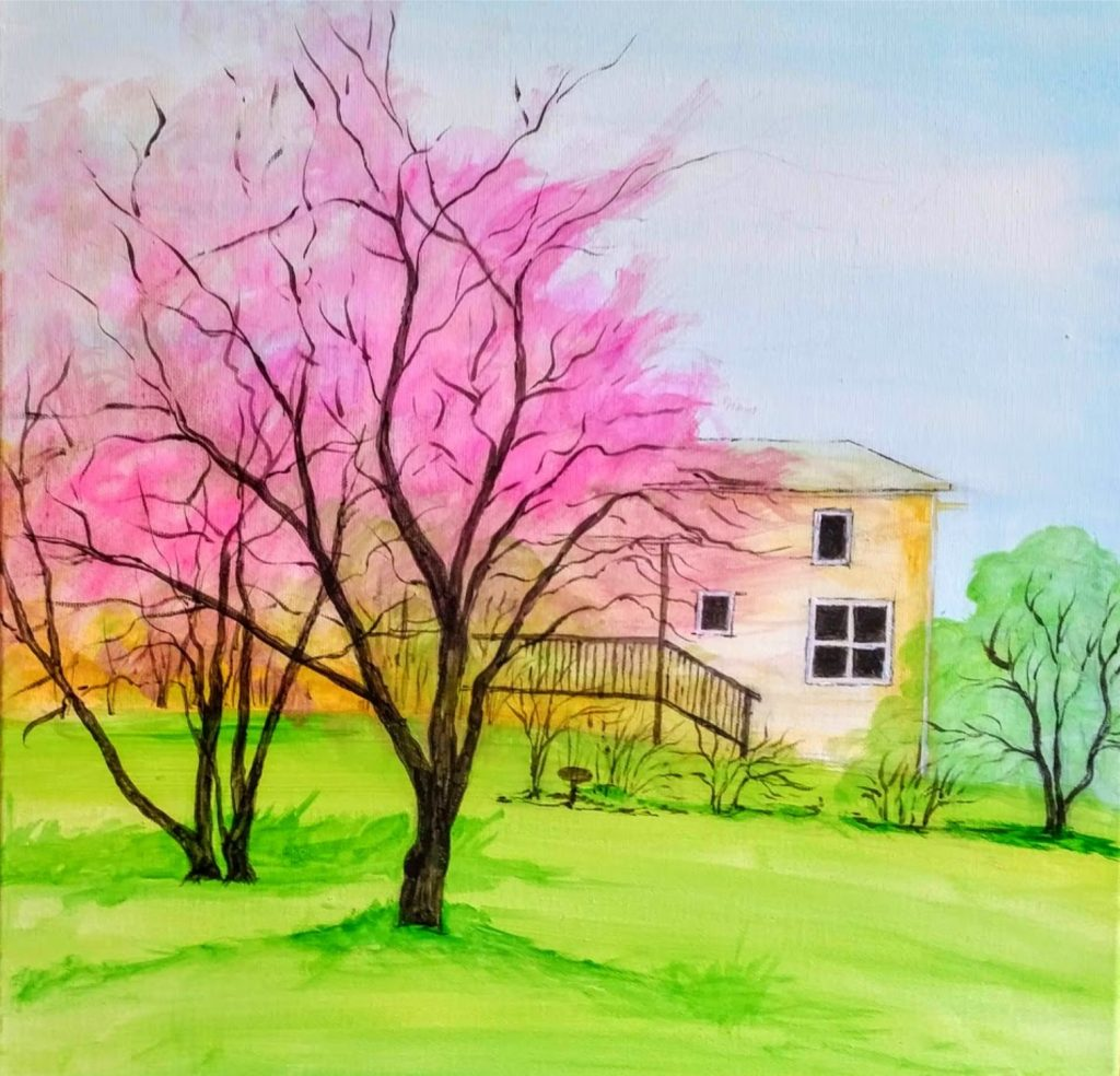 Cherry Blossom Trees Drawing
