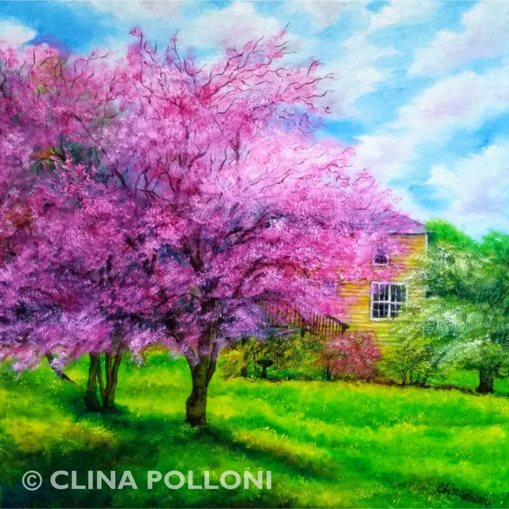 Cherry Blossom Trees Painting
