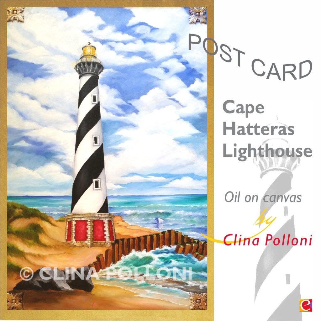 Cape Hatteras Lighthouse NC Postcard