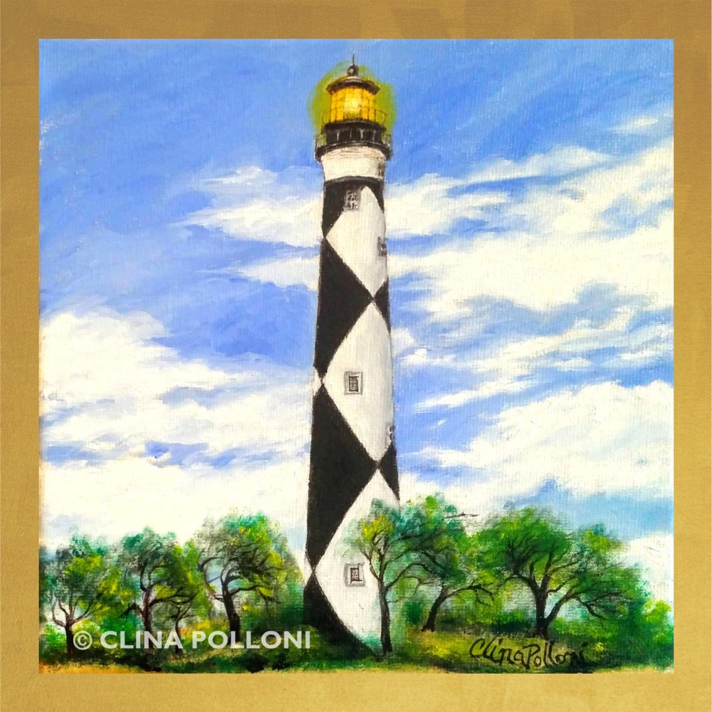 Cape Lookout Lighthouse Oil Painting