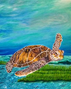 The Majestic Sea Turtle Painting