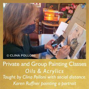 Karen Ruffner Painting Portrait