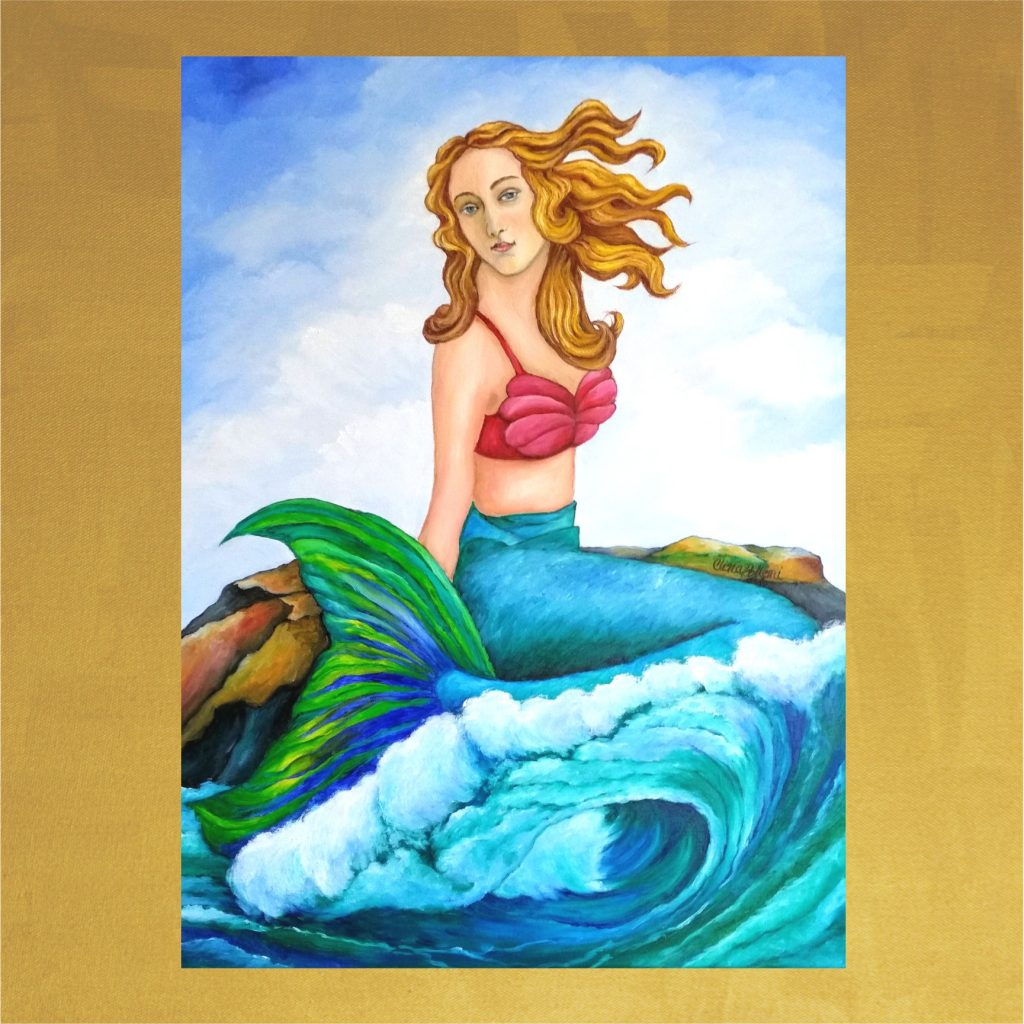 Card-5.5x5.5-The Mermaid of the Wave-Front