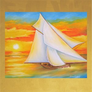 Card-5.5x5.5-Yacht Sailing the Outer Banks-Front