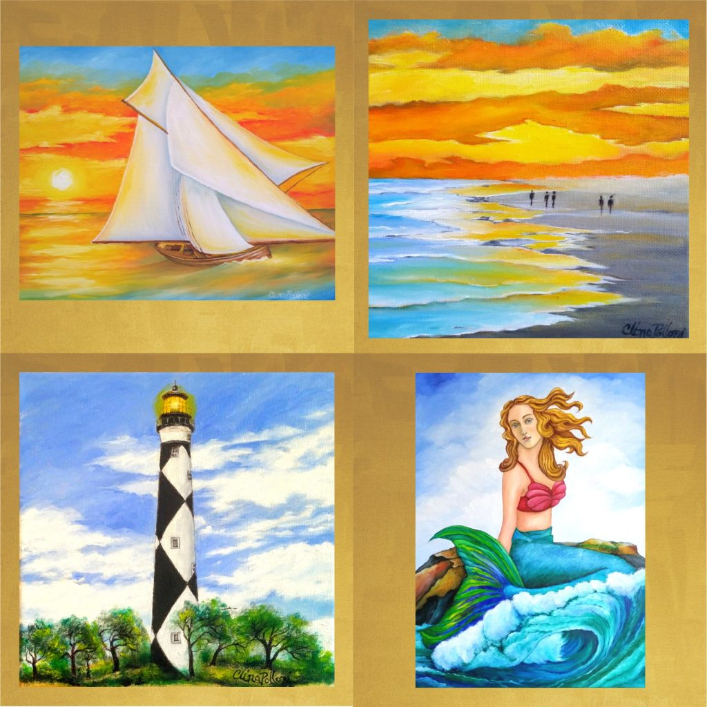Cards-oil paintings reproductions