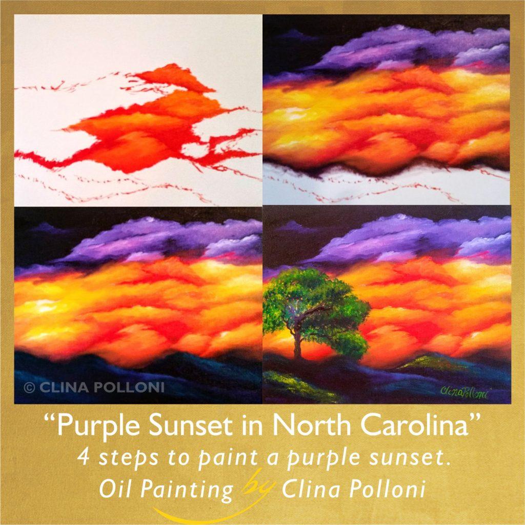 Purple Sunset in North Carolina
