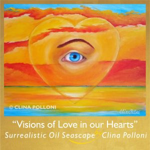 Visions of Love in our Hearts-Surrealistic Seascape