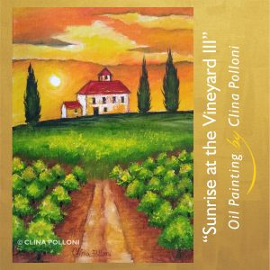 Sunrise at the Vineyard III Painting