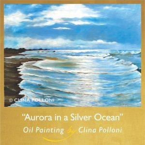 Aurora in a Silver Ocean-Seascape-Emerald Isle NC