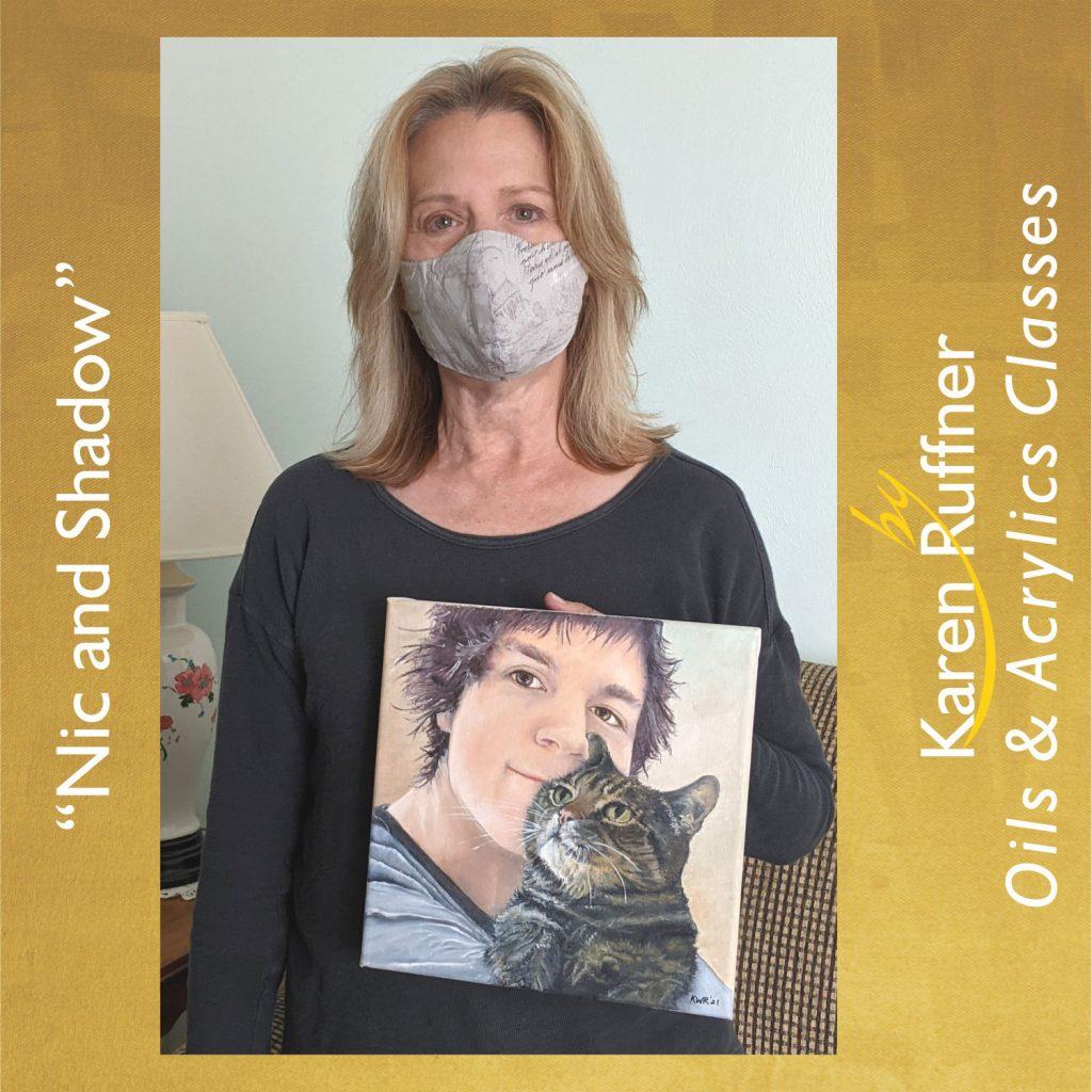 Karen Ruffner-Nic and Shadow-Portrait