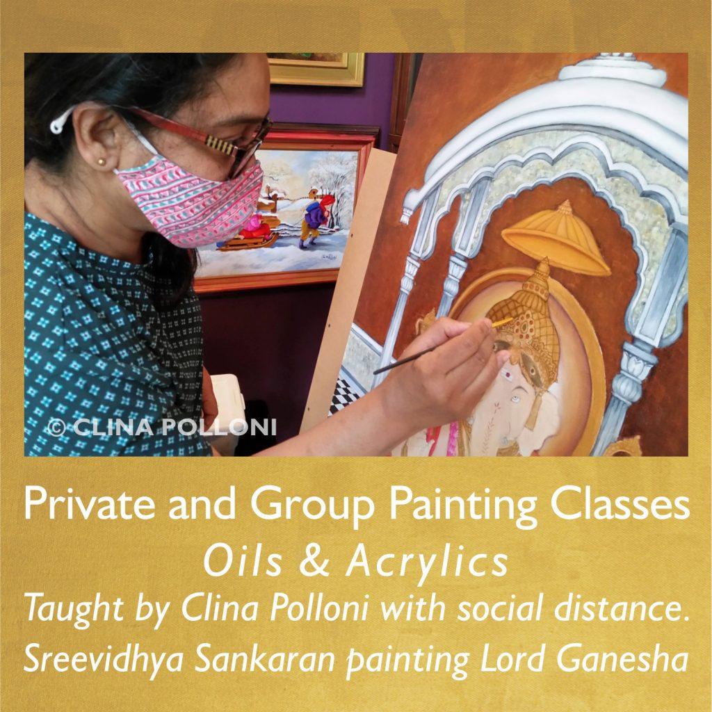 Painting Class-Sreevidhya Sankaran painting Lord Ganesha-May 2021