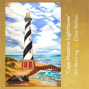 Cape Hatteras Lighthouse Painting by Clina Polloni