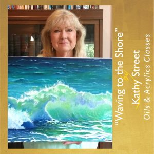 Kathy Street-Waving to the Shore Painting