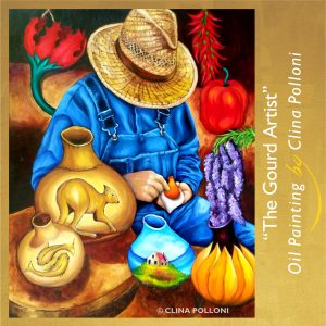 The Gourd Artist-Painting by Clina Polloni