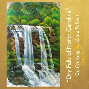 Dry Falls of North Carolina Painting